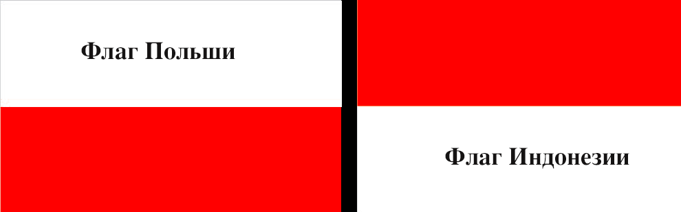 Flag Pol'shi i Indonezii