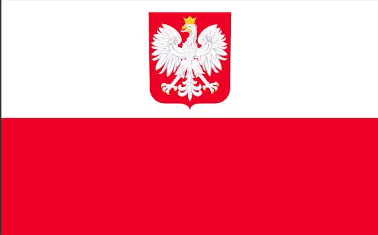 Flag Pol'shi s gerbom