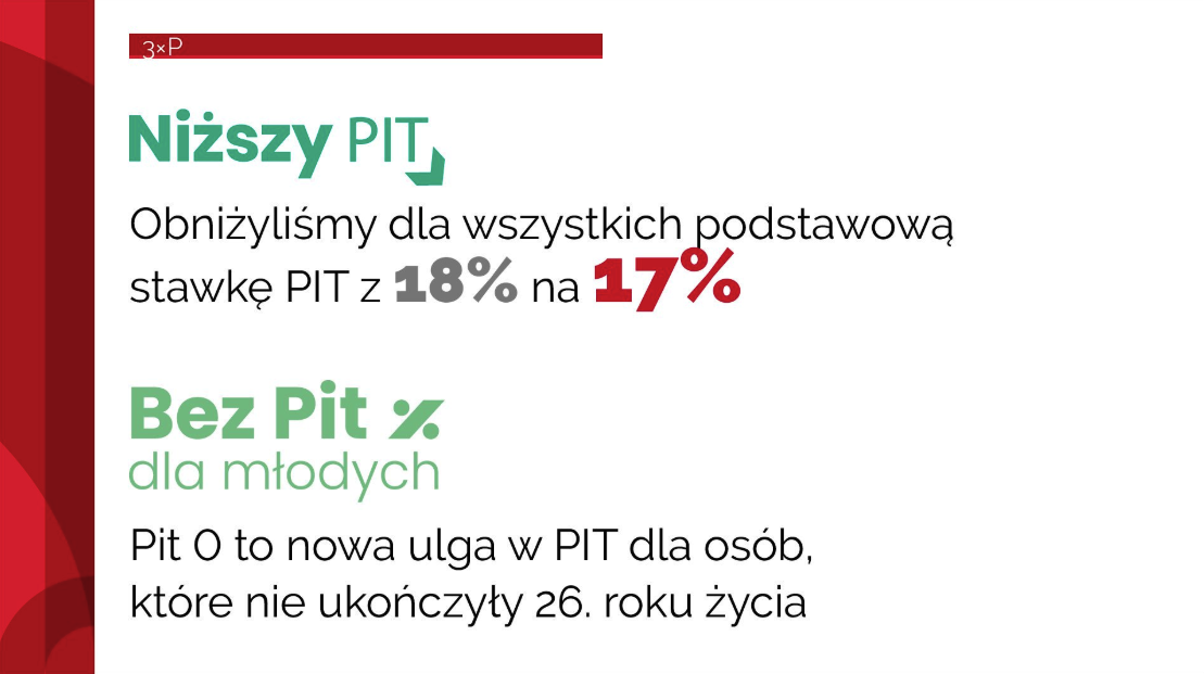 Снижение налогов в Польше