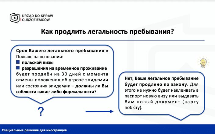 Spetsial'nyye Resheniya Dlya Inostrantsev V Pol'she V Svyazi S Epidemiologicheskoy Obstanovkoy