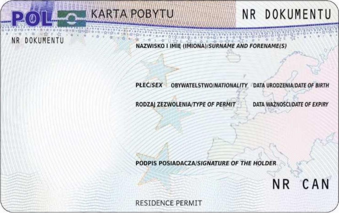 Karta Pobytu-Novyye Obraztsy Dokumentov, Vydavayemykh Inostrantsam