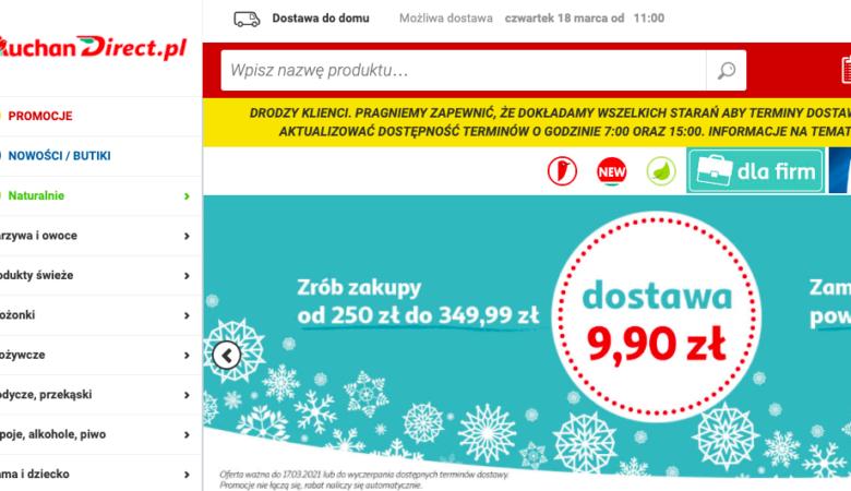 Dostavka produktov s Carrefour, Auchan, Megasam24, Frisco, Leclerc, Tesco, Spark v Pol'she